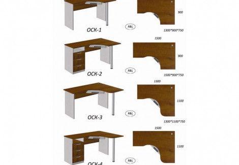 Столы компьютерные угловые «ОСК» (КОНТИНЕНТ)