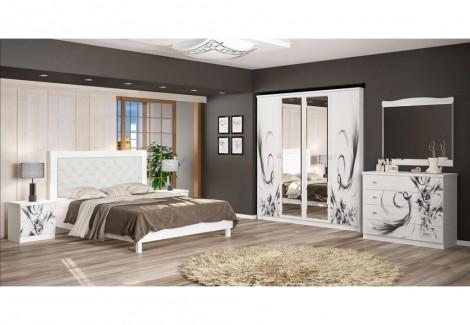 Спальня Ева венге, белый Мебель-Сервис