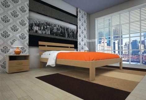 Кровать деревянная «Домино 1» (ТИС)
