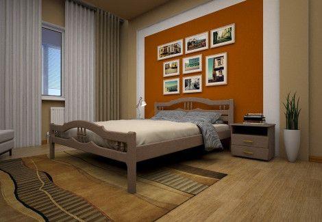 Кровать деревянная « ЮЛІЯ 1» (ТИС)