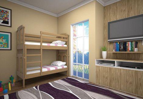 Кровать двухъярусная «Детская» (ТИС)