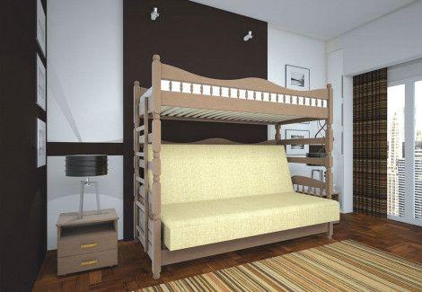 Кровать детская «Комби 3» (ТИС)