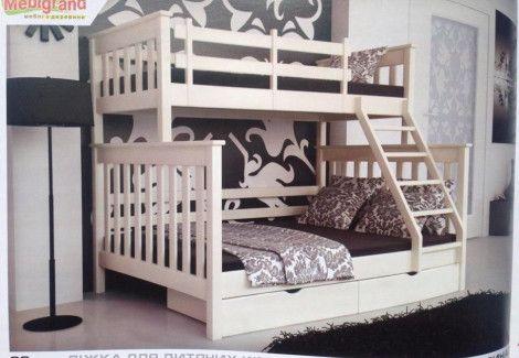 Семейная двухъярусная кровать Скандинавия Мебигранд