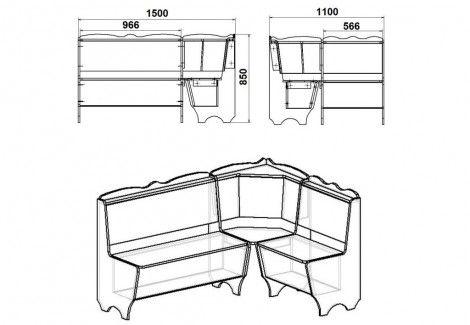Кухонный уголок Родос Компанит
