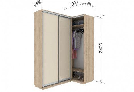 Приставной шкаф купе «Гарант» 100х240х45