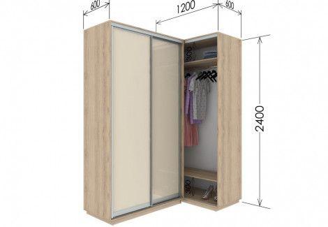 Приставной шкаф купе «Гарант» 120х240х60