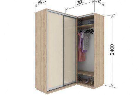 Приставной шкаф купе «Гарант» 130х240х60