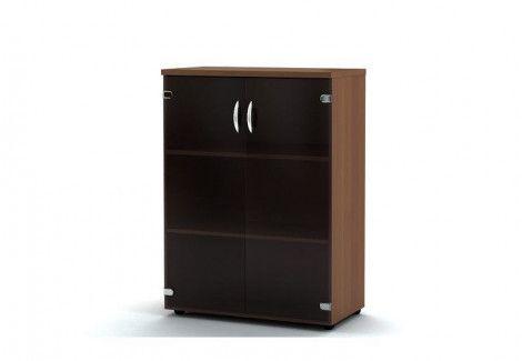 Шкаф для документов со стеклом КШС 110 Персона