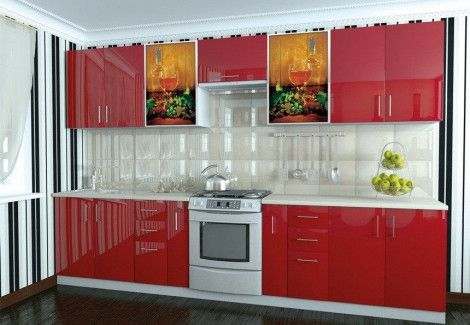 Кухня High Gloss Мебель Стар