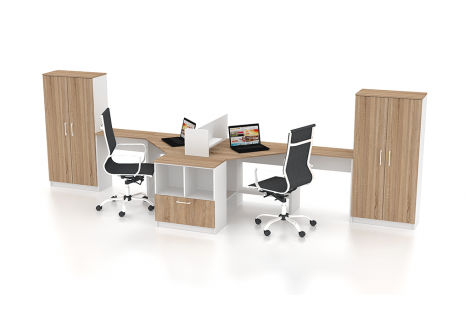 Комплект офисной мебели Simpl 6 Флеш-Ника