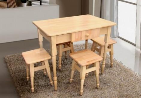 Комплект кухонный Стол+4табурета Смарт Микс Мебель