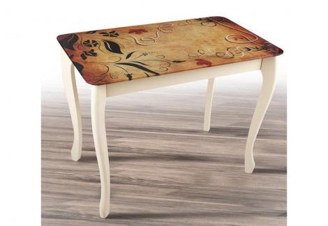Стол обеденный Смарт со стеклом Микс Мебель