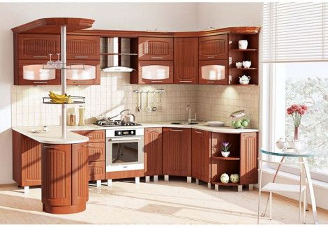 Кухня «Сопрано» (Комфорт мебель) посекционно