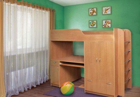 Кровать двухъярусная «Дуэт-1» (Пехотин)