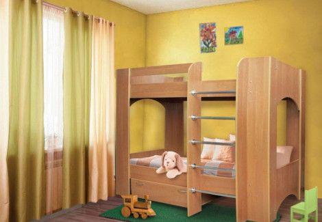 Кровать двухъярусная «Дуэт-2» (Пехотин)