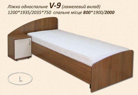 Кровать односпальная V-9