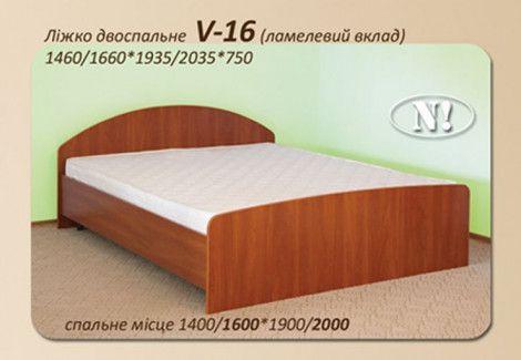 Кровать двухспальная V-16