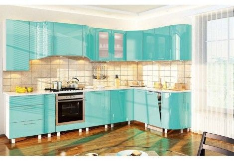 Кухня «ХАЙ-ТЕК» (Комфорт мебель) посекционно