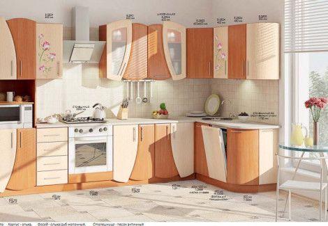Кухня «УЮТ» (Комфорт мебель) посекционно