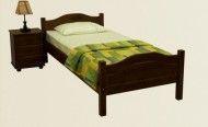 Односпальні ліжка з дерева