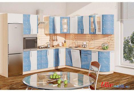 Кухня «Волна» (Комфорт мебель) посекционно