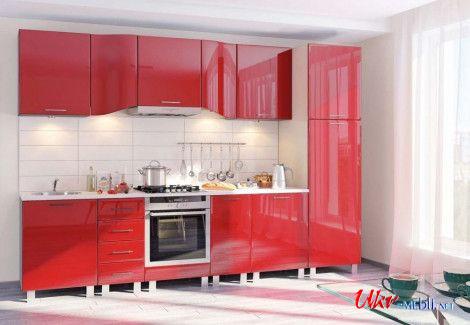 Кухня ХАЙ-ТЕК (Комфорт мебель) посекционно
